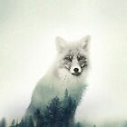 Woodland Animal Fox Double Exposure by PrintsProject
