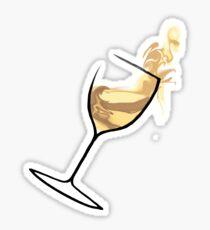 White White Wine Sticker