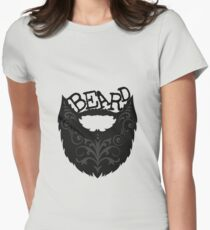 Ornate Black Beard Women's Fitted T-Shirt