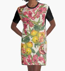 Planting Dreams flower collage Graphic T-Shirt Dress