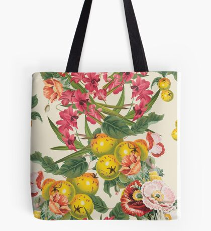 Planting Dreams flower collage Tote Bag