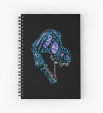 Color Calligram Tyrannosaur Skull Spiral Notebook