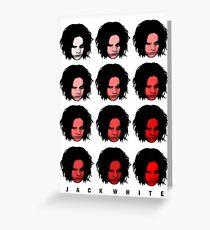 Jack White - Red Pattern Greeting Card