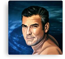 George Clooney 2 Painting Canvas Print