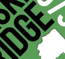 Basking Ridge Green Diamond Sticker