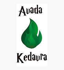 Avada Kedavra Photographic Print