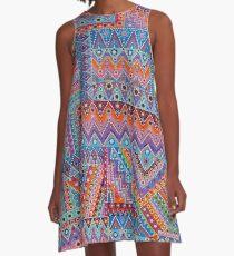 Bohemian Quilt A-Line Dress