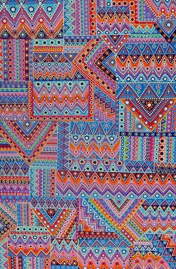 Bohemian Quilt by Kimi Sadanaga