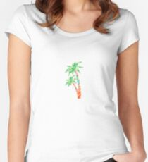 Palm Tree in Lilly Pulitzer Print Fitted Scoop T-Shirt