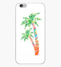 Palm Tree in Lilly Pulitzer Print iPhone Case