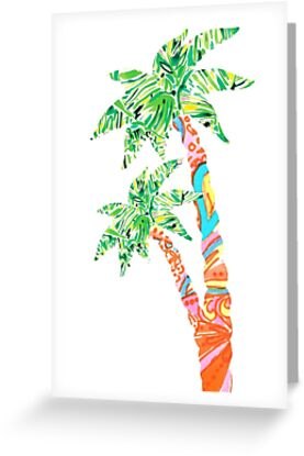 Palm Tree in Lilly Pulitzer Print by mirmaids