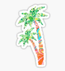Palm Tree in Lilly Pulitzer Print Sticker
