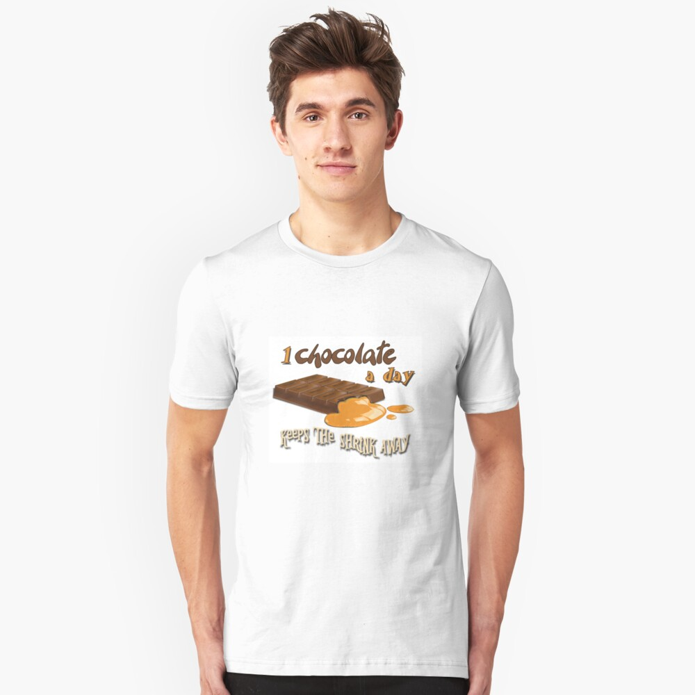 Chocolate - 1 chocolate a day... Slim Fit T-Shirt