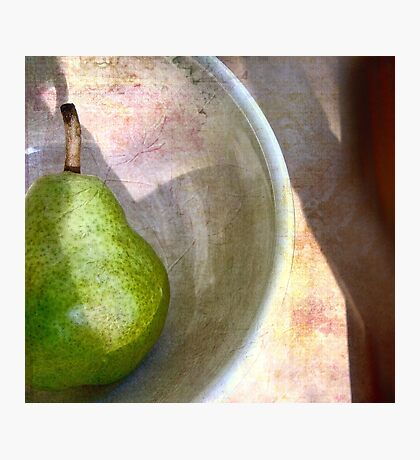 Pear in an Old Pottery Bowl Photographic Print