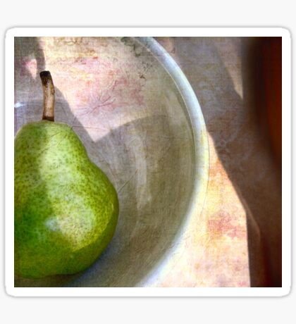 Pear in an Old Pottery Bowl Sticker