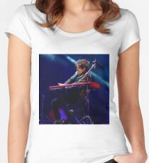 Jamie Cullum in the groove  Women's Fitted Scoop T-Shirt