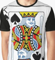 King of Spades Playing card Poker Graphic T-Shirt