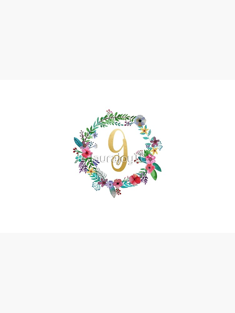 Floral Initial Wreath Monogram G by laurajoy16