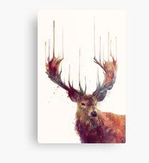 Lámina metálica ciervo rojo