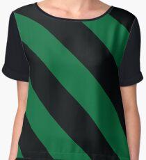 Ypsilanti Michigan Green & Black Team Color Stripes Chiffon Top
