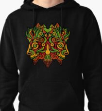 Psychedelic jungle demon Pullover Hoodie