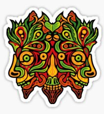 Psychedelic jungle demon Sticker