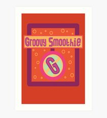 The Groovy Smoothie Art Print