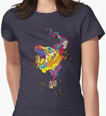 Psychedelic acid bear roar Fitted T-Shirt