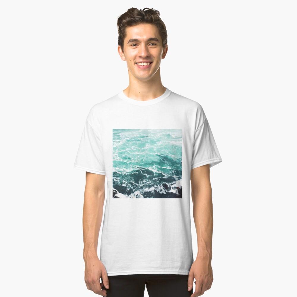 Blauer Ozean Sommer Strand Wellen Classic T-Shirt