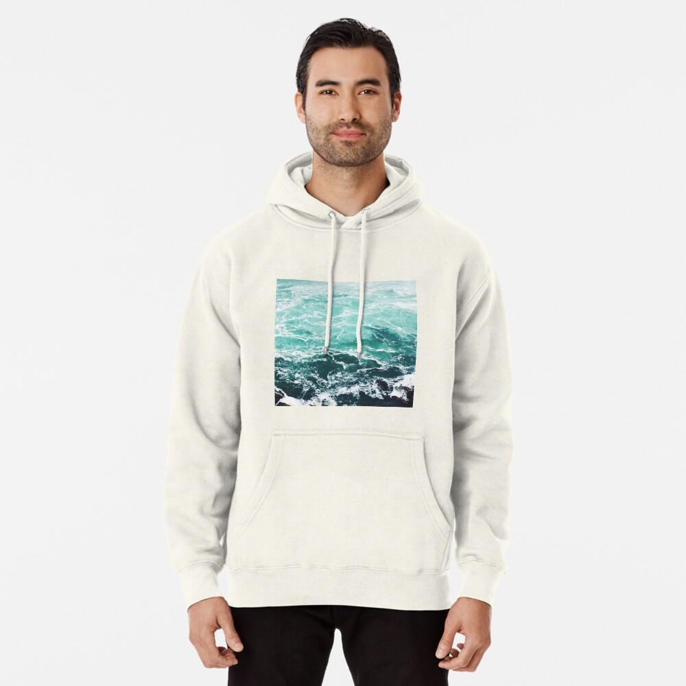 Blue Ocean Summer Beach Waves Pullover Hoodie