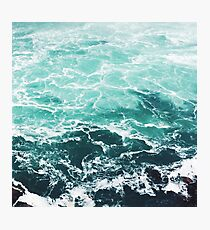 Blue Ocean Summer Beach Waves Photographic Print