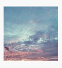 Pink Purple and Blue Summer Sunset Photographic Print
