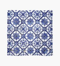 Blue and White Portuguese Tile  Scarf