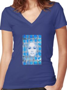 The passage fragment Women's Fitted V-Neck T-Shirt