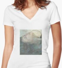 while i was talking to the flowers Women's Fitted V-Neck T-Shirt