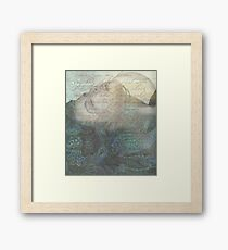while i was talking to the flowers Framed Print