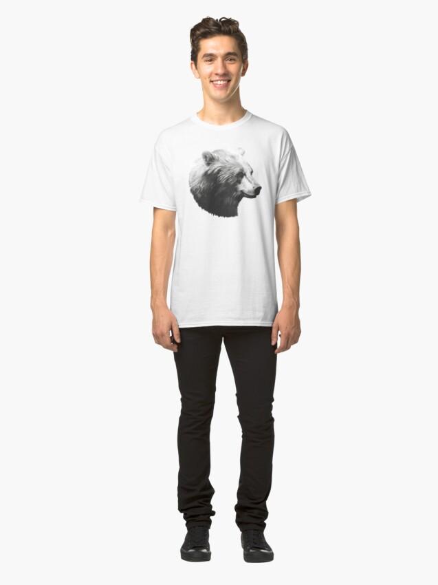 Alternate view of Bear // Calm Sketch Classic T-Shirt