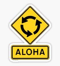 Aloha Circle Sign Design Sticker