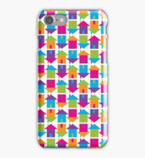 Stamped Doors and Coloured Floors iPhone Case/Skin