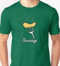 Sausage on a fork Unisex T-Shirt