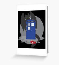 Toothless TARDIS Greeting Card