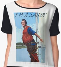 Im A Sailor Bob Quote Women's Chiffon Top