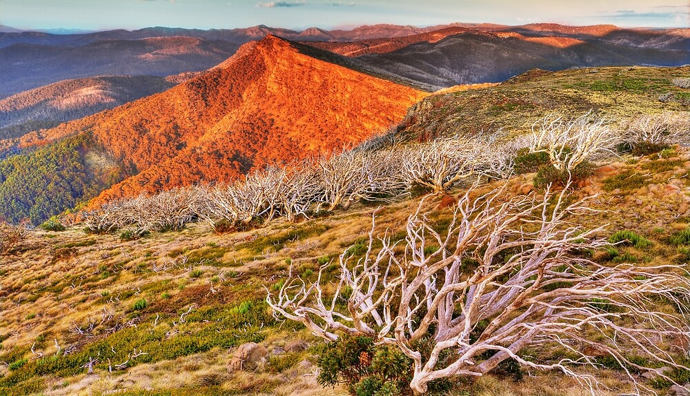 Last light over the high country. by Kevin McGennan