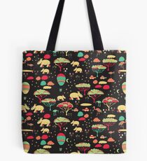 Night Time Rhino Adventure Tote Bag