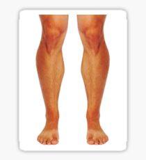 Muscular male legs Sticker