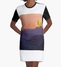 Dusty Moonset Graphic T-Shirt Dress