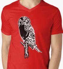 Owl Silhouette Mens V-Neck T-Shirt