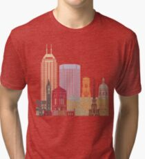 Indianapolis skyline poster Tri-blend T-Shirt