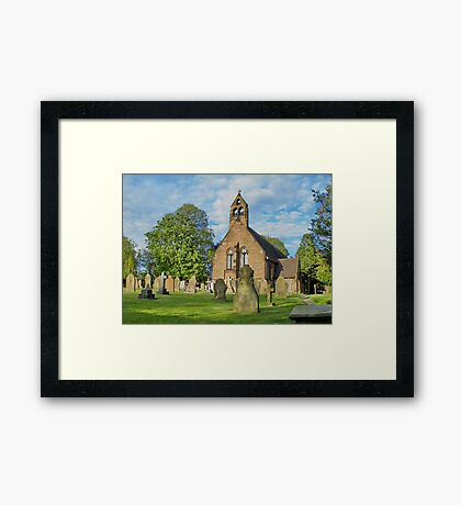 Church in Cheshire, England Framed Print