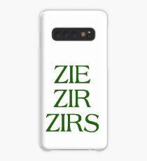 Pronouns - ZIE / ZIR / ZIRS - LGBTQ Trans pronouns tees Case/Skin for Samsung Galaxy